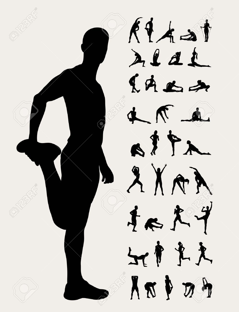 stretching-silhouettes